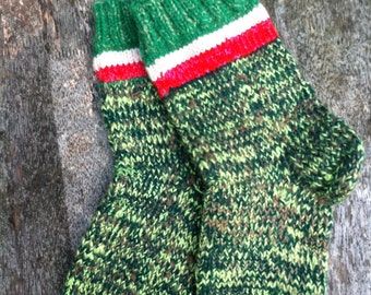 Green socks, home socks, woolen socks, lithuanian sock, traditional socks, grandmother socks, mother's day gift, women gift
