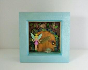 miniature fairy theme,fairy door, shadow box
