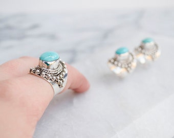 Sterling Silver Turquoise Majesty Statement Ring
