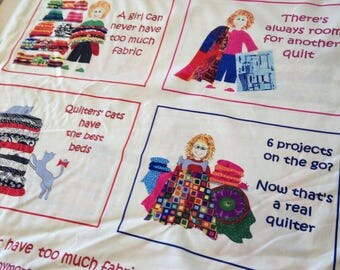 SALE - Quilters Panels Patchwork Fabric
