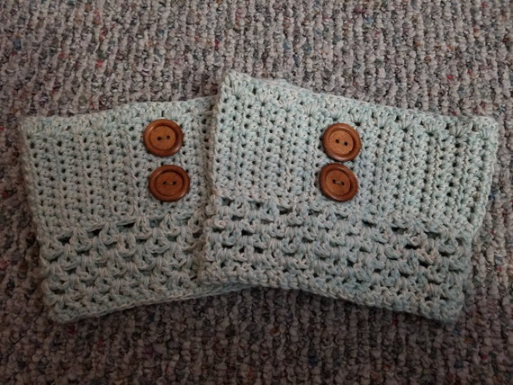 READY TO SHIP - Crocheted Boot Cuffs - X-Large