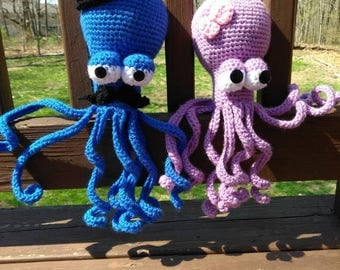 Mr. And Mrs. Octopus Amigurumi