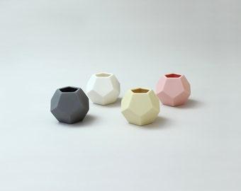 Dodecahedron Geometric Ceramic Pot