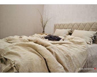 Duvet Cover 100% Linen Flax Bedding, Queen Duvet Cover, Linen duvet covers, Raw, Natural, Organic, Singe, Twin, Double, Queen, King all size