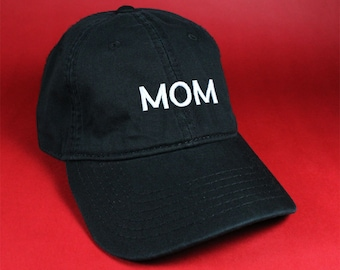 MOM Black Pink White Dad Hat Dad Cap Baseball Hat Baseball Cap Embroidered Low Profile Casquette Strap Back Adjustable Cotton