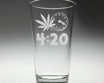 FREE SHIPPING Personalized Colorado 4:20 Time engraved glass , colorado fan , colorado gift ,