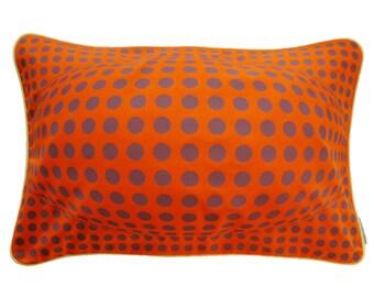 Pillowcase BUBBLE, orange / grey violet, 60 x 40 cm (without filling)
