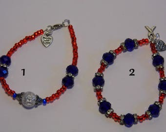 Red White & Blue Bracelets! USA! -Priority Shipping World Wide! More Jewelry in Shoppe!