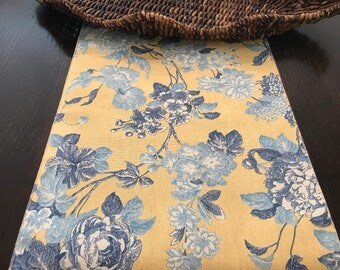 Spring Blue Yellow Table Runner   French Table Runner   Yellow Table Runner   Summer Table Runner   Provençal Provence Floral Decor