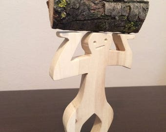 The man of the forest/wood toys/wood sculpture