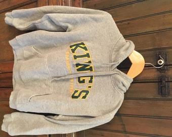 VTG Kings Grey Hoodie Comfy Sweatshirt (S/M)
