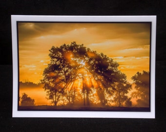 A Foggy Sunrise In New Carlisle 5x7 Card By Thomas Minutolo
