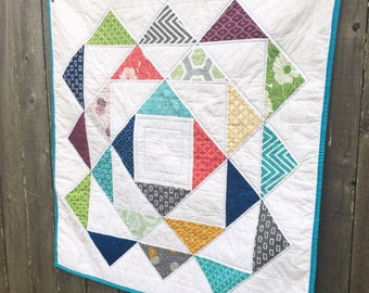 """Modern Colorful Baby Quilt """"Kelsey"""""""