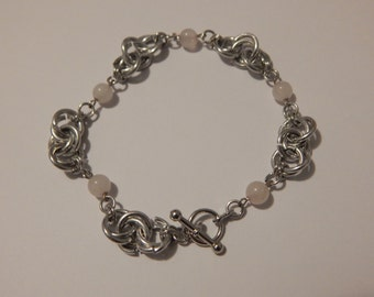 Love - Rose Quartz Chainmail Bracelet