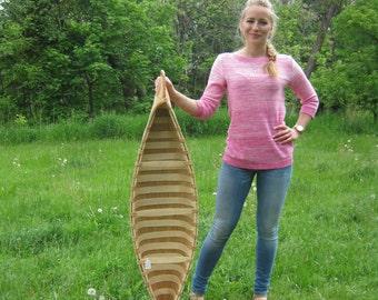 ONE (1) Native-Made Birchbark Canoe from Quebec