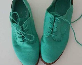 Teal Bass shoes