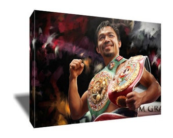 FREE SHIPPING Manny Pacquiao Boxing Great Canvas Art