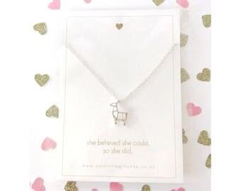 Super Cute Deer Necklace - Silver