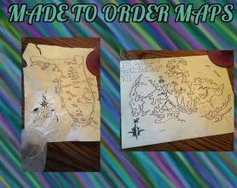 Made to order video game /fantasy maps
