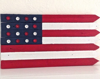 Recycled Barn Wood American Flag