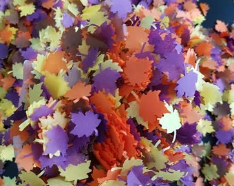 Autumn maple Leaf Tissue paper Confetti Natural Eco Leaves for Throwing -Wedding an more decor Orange/Yellow/ Brown/ Purple 3-400 handfuls