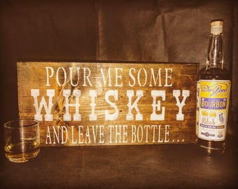 Wood Whiskey Sign