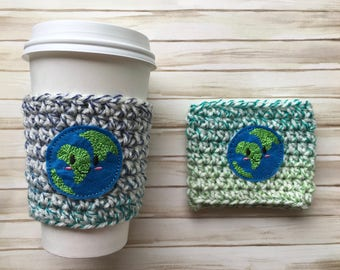 Earth Cozy/Earth Day/Coffee Cozy/Coffee Sleeve
