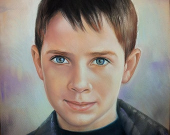 "custom portrait16""x20"",picture from photo,pastel portrait"