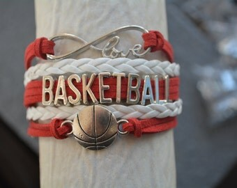 Basketball Gift - Basketball Bracelet – Basketball Gift - Perfect for Basketball Players, Basketball Coaches & Basketball Team Gifts