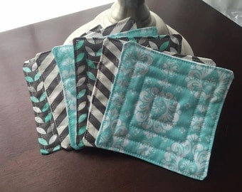 Quilted Coasters, Set of 6
