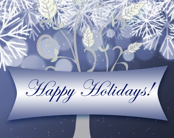 Happy Holidays Card - Printable or Web Banner