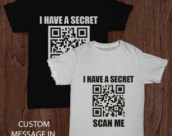 Mens Personalised QR code t-shirts