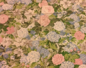 Arthur Sanderson ' flower Show ' fabric shabby chic floral roses and lilacs