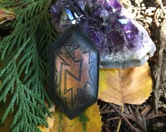 Creativity Sigil Etched Copper Pendant