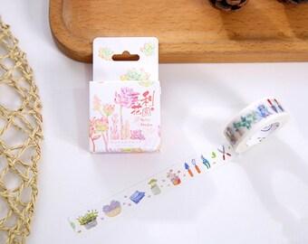 Morri's Garden Japanese Washi Tape,Masking Tape, Decorative Tape, Sticker, Planner Sticker, Gardener, Spring, Korean Stationery