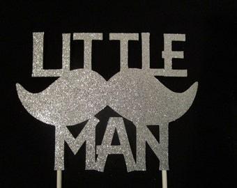 Little man cake topper, Boy baby shower cake topper
