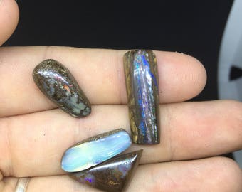 DISCOUNTED Natural Australian Boulder Opal Gemstone Crystal Jewellery Making Tool Cut stone Lapidary Collection