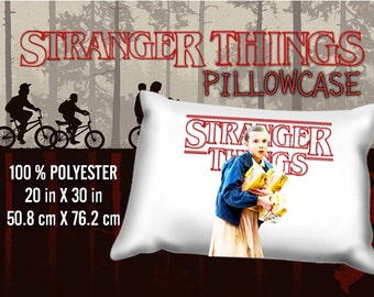 Stranger Things Eleven 11 El Millie Bobby Brown  Pillowcase