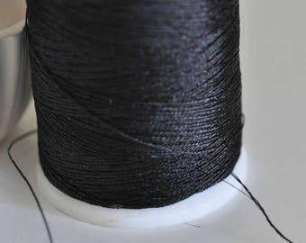 Metallic black thread 0.8mm - 1 meter