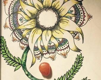 Sunflower Folk Art