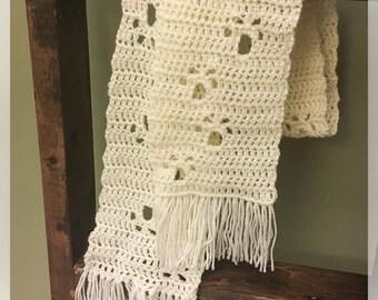 Crocheted Paw Print Scarf
