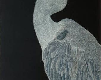 Blue Herron Print