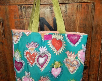 Handmade Heart Market Bag