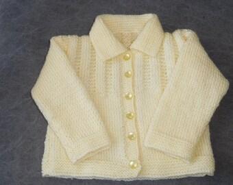 Baby Cardigan, Handknitted Baby Cardigan, Baby Sweater, Baby Girl Cardigan
