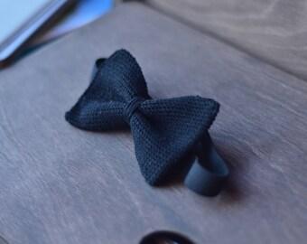 Classic crochet bow tie