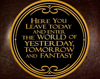 Magic Kingdom Welcome Sign (dark background)
