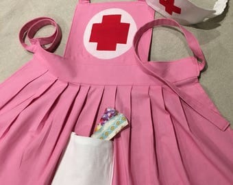 Girl pink nurse costume