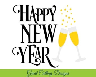 "Shop ""happy new year svg"" in Bookbinding & Printing Supplies"