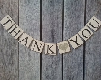 THANK YOU banner, wedding banner, wedding sign, thank you sign, wedding photo prop, wedding thank you banner, thank you photo prop