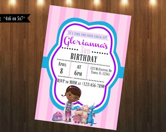 Doc McStuffins Invitation|Digital File Only|4x6 or 5x7